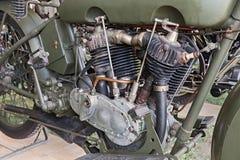老哈利戴维森引擎 免版税库存图片