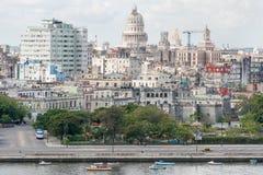 老哈瓦那包括国会大厦大厦 免版税库存图片