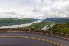 老哥伦比亚高速公路风景视图 免版税库存图片