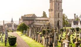 老哥特式公墓,苏格兰细节  免版税图库摄影
