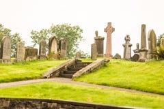 老哥特式公墓,苏格兰细节  免版税库存图片