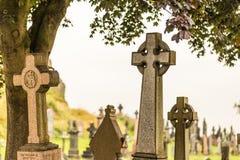 老哥特式公墓,苏格兰细节  库存图片