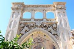 老哥特式城镇厅在莱切,意大利 库存图片