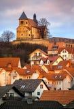 老哥特式德国镇富尔达法兰克福,德国 库存照片