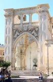 老哥特式莱切,意大利城镇厅  免版税库存照片