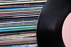 老唱片的汇集 库存图片