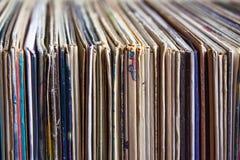 老唱片,册页的汇集 免版税图库摄影