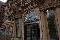 老商业银行大厦在法兰克福 免版税库存图片