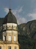 老国会大厦在波哥大,哥伦比亚。 免版税库存照片