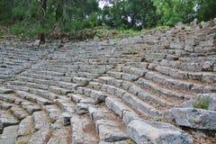 老圆形剧场Phaselis在安塔利亚 免版税库存照片