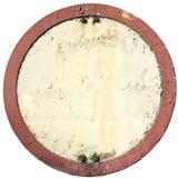 老圆的空白的标志 免版税库存图片