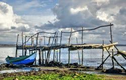 老土气码头在阿威罗 库存照片