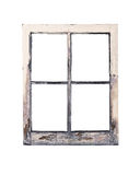 老土气窗架 免版税库存图片