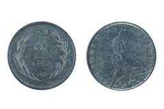 老土耳其硬币 库存照片
