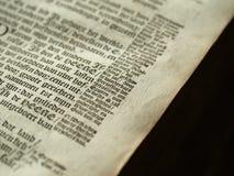 老圣经详细资料 免版税图库摄影