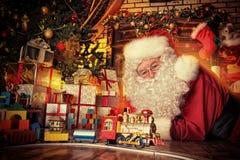 老圣诞老人 图库摄影