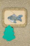 老圣诞节戏弄纸板1950-1960期间 免版税库存图片