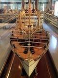 老在奥克兰海博物馆船模 免版税库存照片