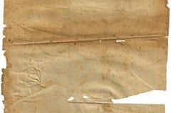 老在白色的葡萄酒肮脏的被撕毁的空白页书 免版税库存照片