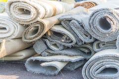老地毯卷 图库摄影