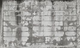 老地面,水泥块墙壁 图库摄影