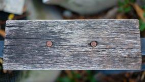 老坐垫木头 免版税库存照片