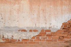 老块桔子墙壁 库存照片