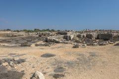 老坟茔在凯里尼亚 免版税图库摄影