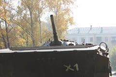 老坦克在围场 免版税库存图片