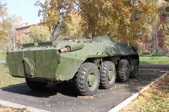 老坦克在围场 图库摄影