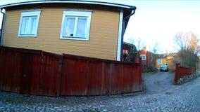 老城内住宅在波尔沃,芬兰 影视素材