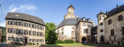 老城堡在中世纪市Buedingen 免版税图库摄影