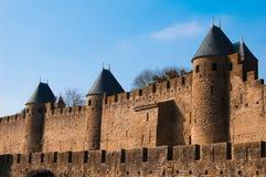 老城堡在卡尔卡松 免版税库存照片