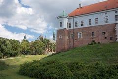 老城堡在桑多梅日,波兰。 库存照片
