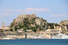 老城堡在科孚希腊 免版税库存图片