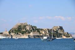 老城堡在科孚希腊 免版税库存照片
