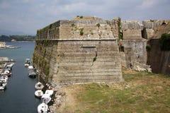老城堡在科孚(希腊) 免版税库存照片