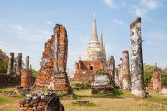 老城堡在Ayutthaya泰国。 免版税库存照片