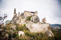 老城堡在Durnstein 库存图片