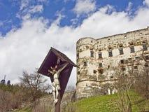 老城堡在Gmuend在克恩顿州 库存图片