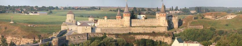 老城堡在Kamenets-Podilskiy,乌克兰 库存照片