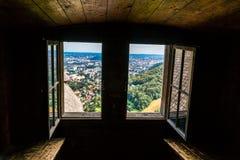 老城堡废墟在Gosting格拉茨 免版税库存照片