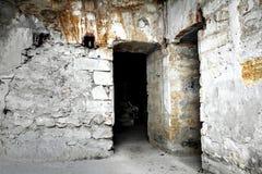 老城堡的土牢 免版税库存照片