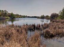 老城堡的湖 免版税库存照片