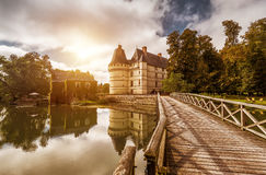 老城堡, chateau de l'Islette,法国 免版税库存照片