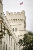 老城堡capus大厦在查尔斯顿南卡罗来纳 库存照片