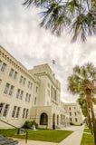 老城堡capus大厦在查尔斯顿南卡罗来纳 免版税库存照片
