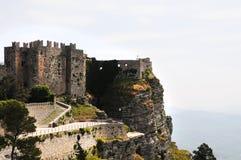 老城堡erice 免版税库存图片