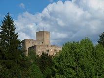 老城堡Landstejn的废墟 免版税图库摄影