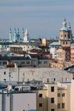 老城市、寺庙、清真寺和塔 喀山俄国 免版税库存图片